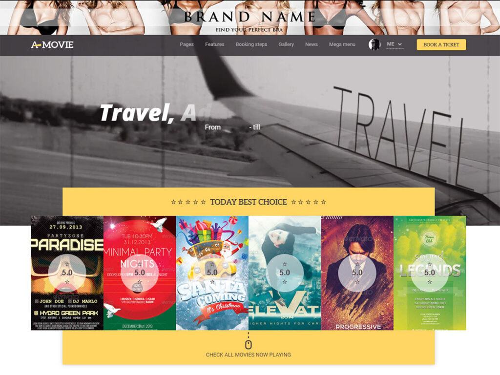 A.Movie - Bootstrap Blog Template