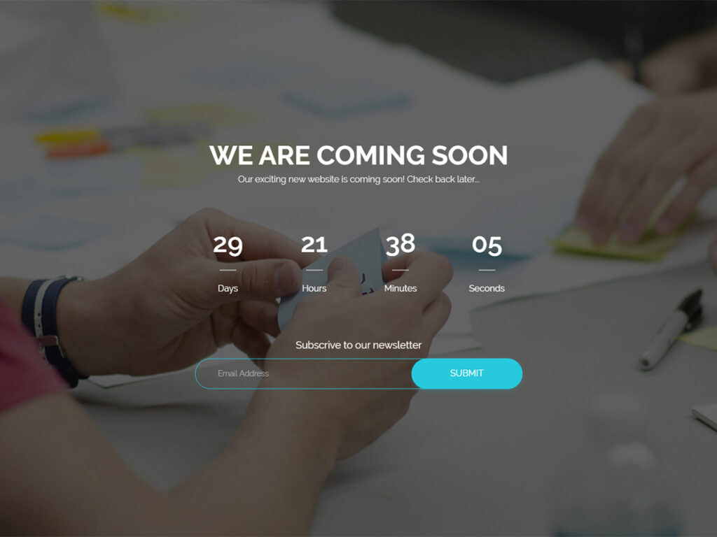 Enva - Coming Soon Page