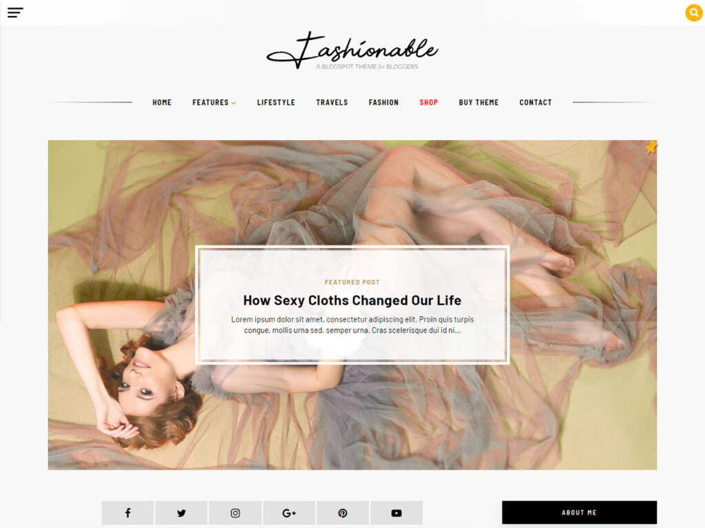 Fashionable - A Blogger Template Blog