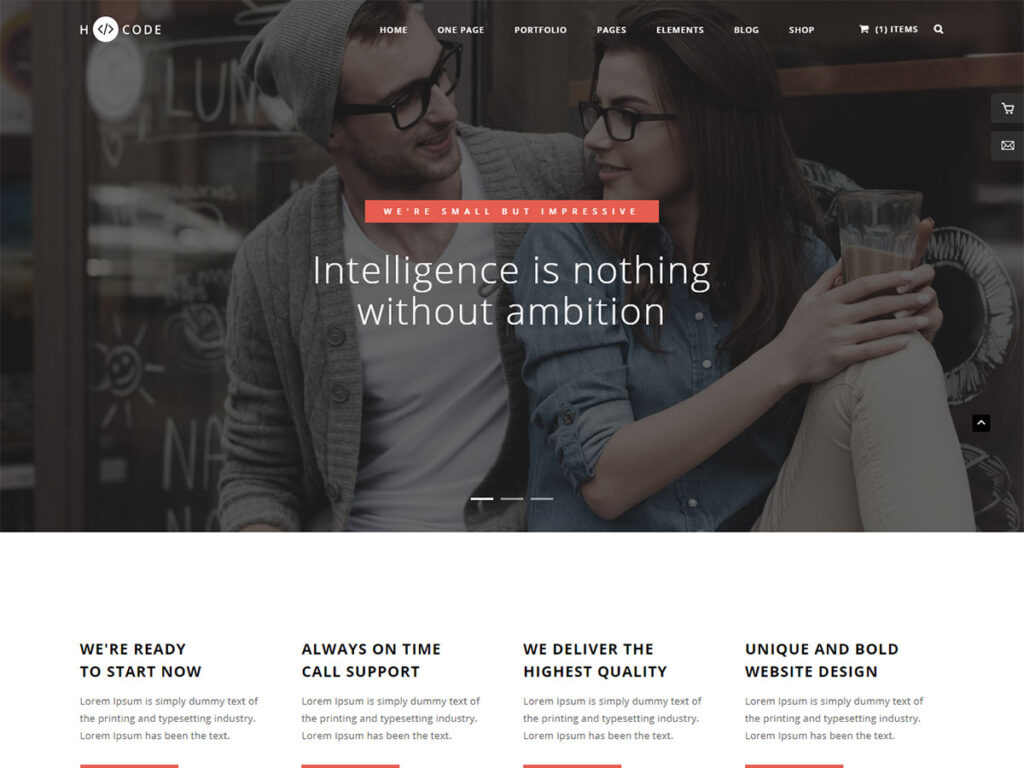 H-Code - Bootstrap Blog Template