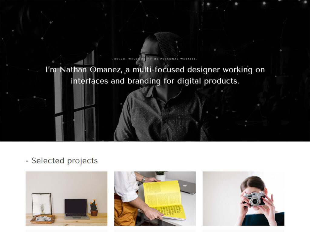 Omanez - Personal Website Templates